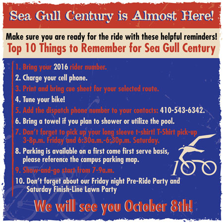 Top 10 Things to Remember for Sea Gull Century