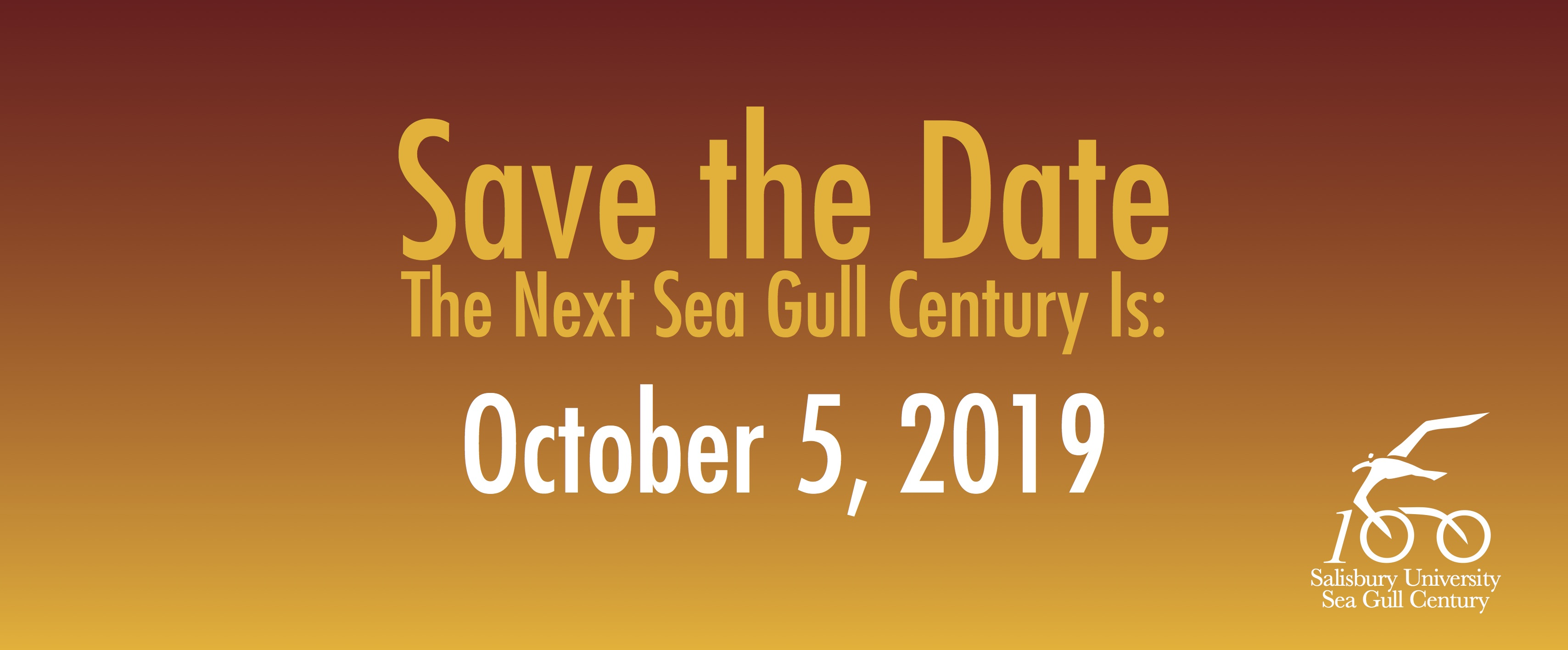 Save the Date! The next Sea Gull Century is October 5, 2019